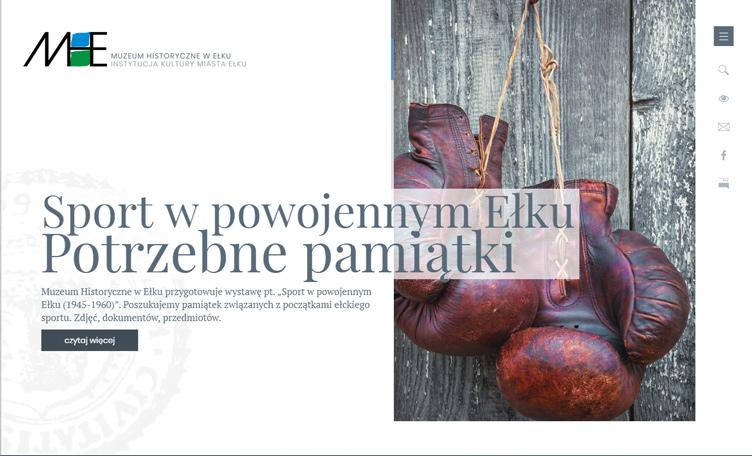 Strona internetowa – Muzeum Historyczne w Ełku
