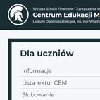Strona internetowa – CEM Ełk