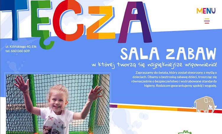 Tęcza Ełk strona internetowa sali zabaw dla dzieci.